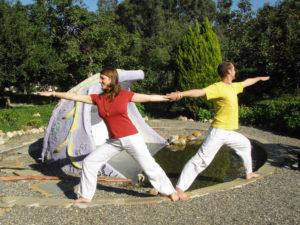 Tina und Sebastian Pfaar Partner Krieger bei Satya Yoga in Besse