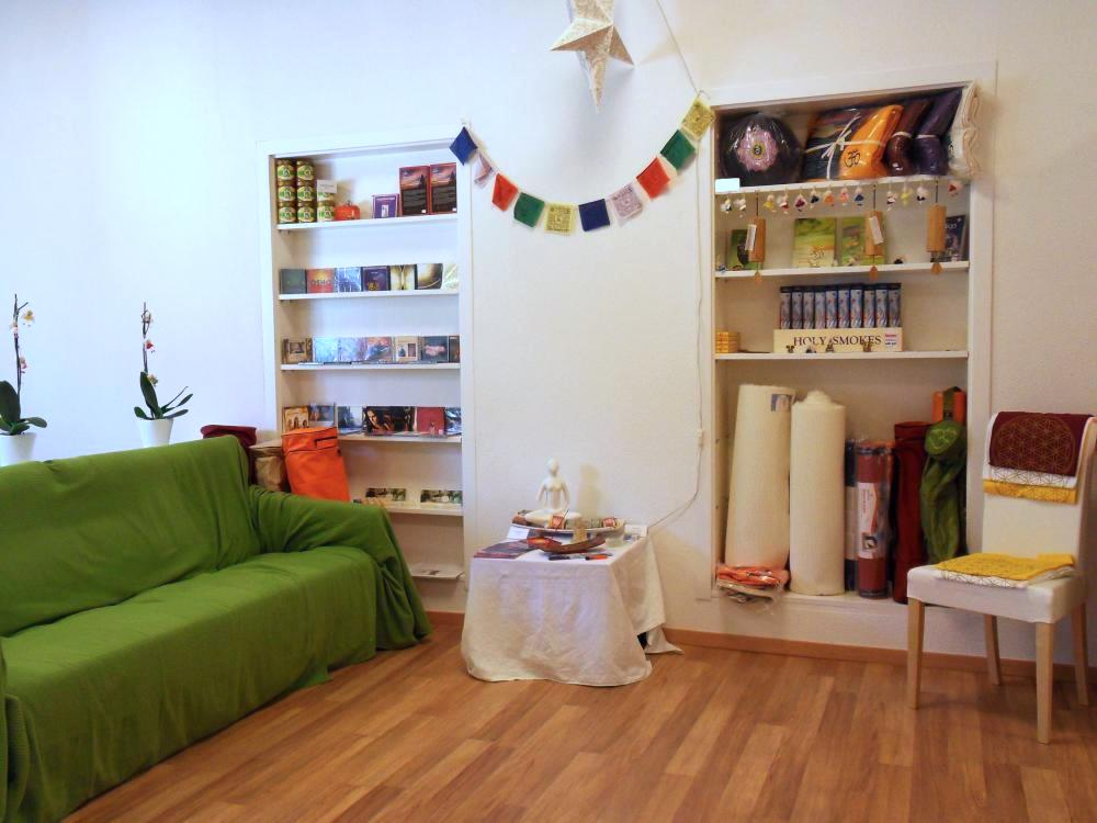 Yogashop im Satya Yoga Zentrum in Besse