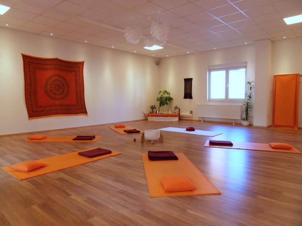 Yoga Raum im Satya Yoga Zentrum in Besse
